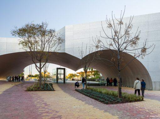 Marquesina exterior del espacio CaixaForum-Sevilla