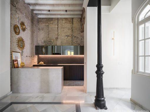 Espacio de cocina en una vivienda en Sevilla